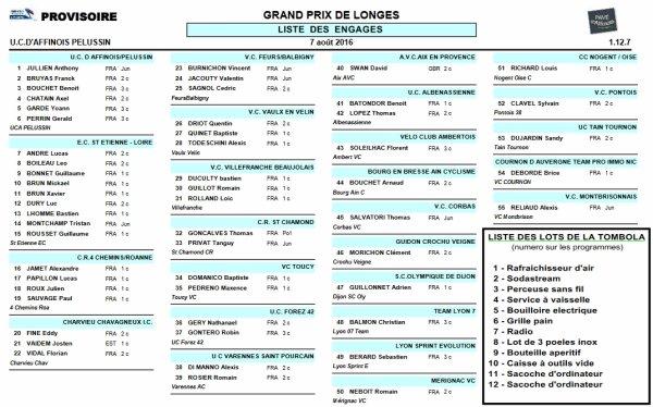 Grand Prix de Longes 2016 le 7 août !