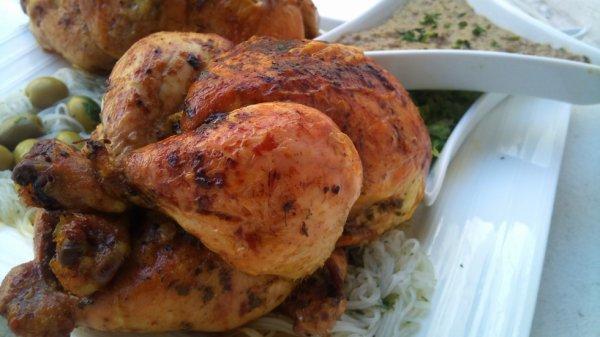 poulet fumé A LA SAUCE DE FOIE