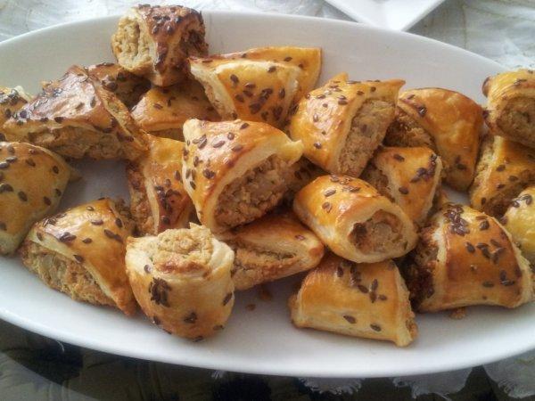 Mini croissants salés et sucrés