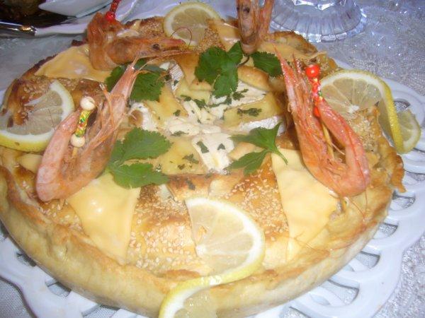 tourte au fruit de mer