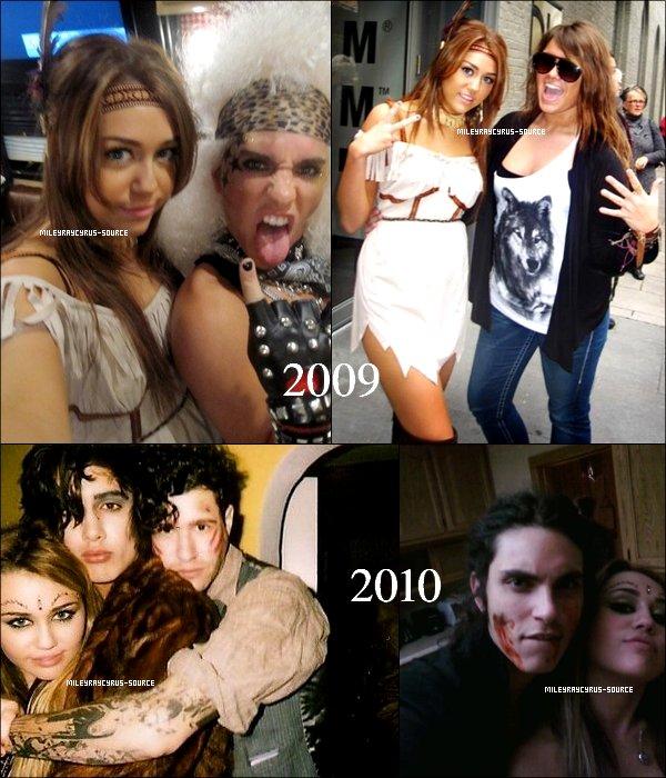 .    Miley aime fété Halloween , je vous propose de voir ses costumes en 2009 & 2010 .      .