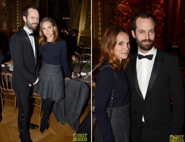[12.01.14]  Natalie se trouvait ce lundi au 40ème anniversaire du conseil Pasteur Wiezmann, à l'opéra Garnier de Paris, en compagnie de son mari.