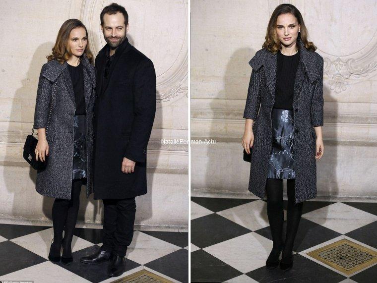 """[26.01.14] Natalie se trouvait en compagnie de son mari à la """"Christian Dior Haute couture"""" aujourd'hui ♡"""