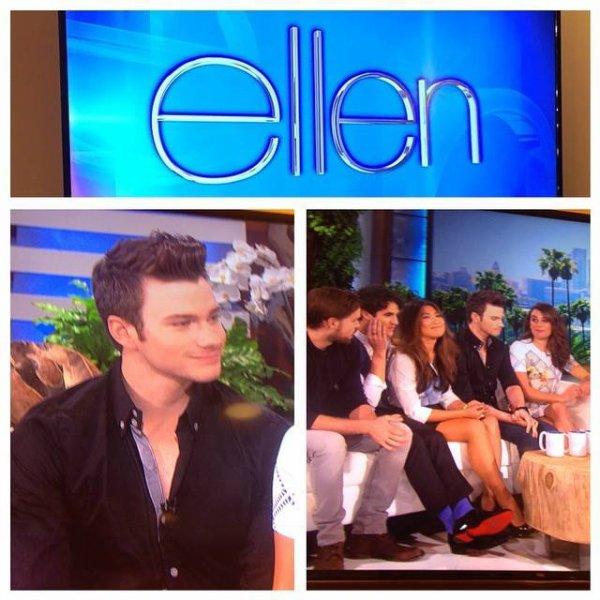 Lea, Chris, Darren, Jenna e Chord no The Ellen Degeneres Show