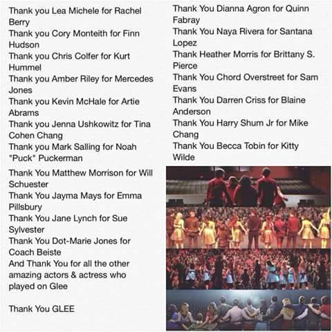 Thank You Glee