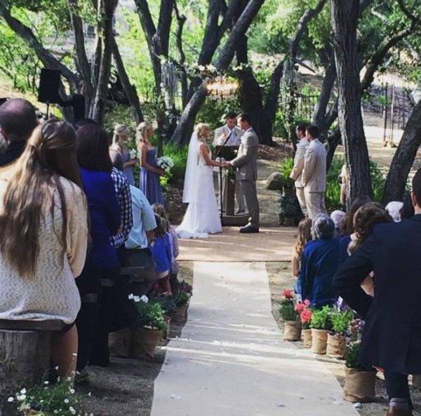 Hier a eu lieu le mariage de Heather et Taylor Hubbell !