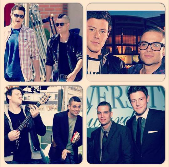 Mark Salling et kevin pour Cory Monteith