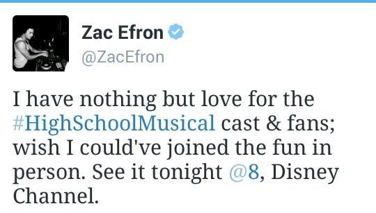 Clashé pour ne pas avoir été présent lors des BIG RETROUVAILLES du cast de High School Musical, Zac Efron a tenu à mettre les choses au clair