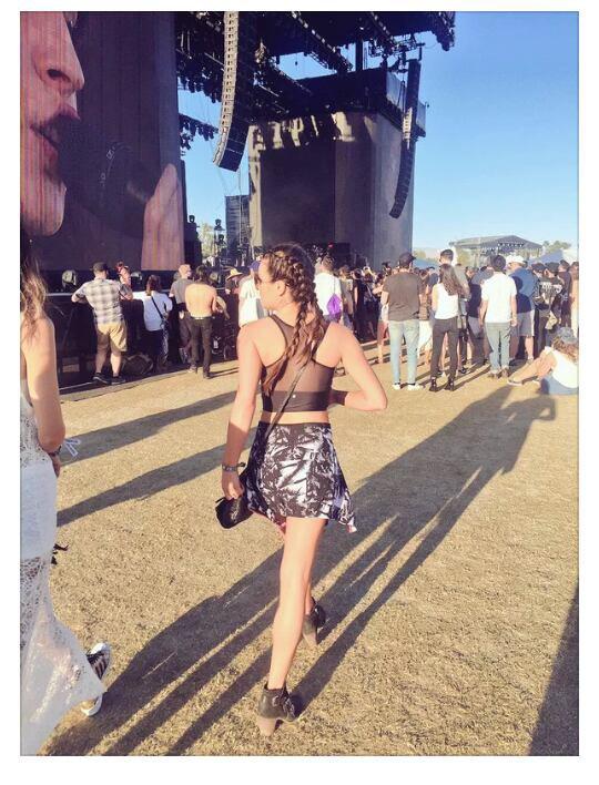 Lea Michele et Becca Tobin a la journée Coachella