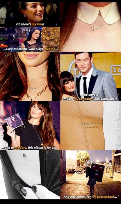 L'hommage de Cory Monteith par Lea Michele