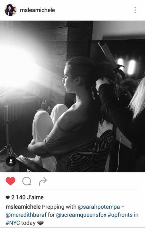 Lea Michele sur instagram et Twitter