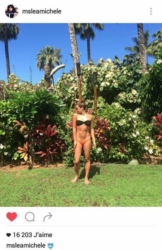 Lea Michele sur instagram
