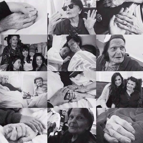 Malheureusement, l'arrière grand-mère de Demi Lovato est décédée ....