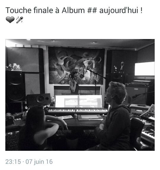 Lea Michele en studio