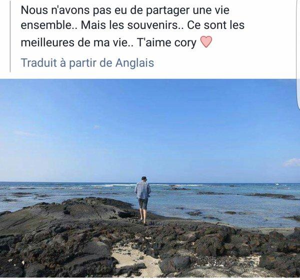 Lea Michele sur Facebook un petit mot pour Cory
