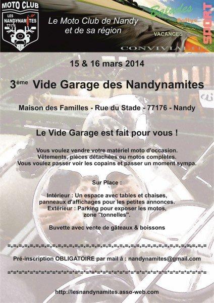 3ème VIDE GARAGE MOTO à Nandy (77176)