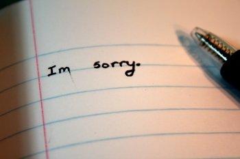 Je suis désolée.