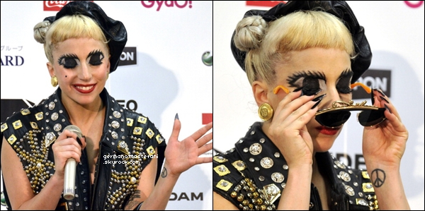 . 25/06/11 :   Stefani Germanotta sur le Tapis-Rouge des MTV Video Music Aid Japan. Avis?     .