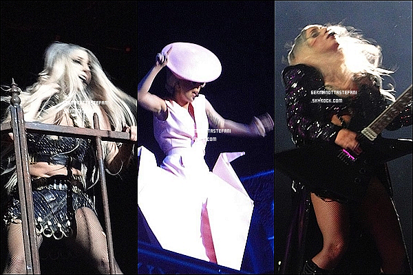 _  13/05/12 : Lady Gaga à été aperçue  rentrant a son hôtel après le Born This Way Ball. _