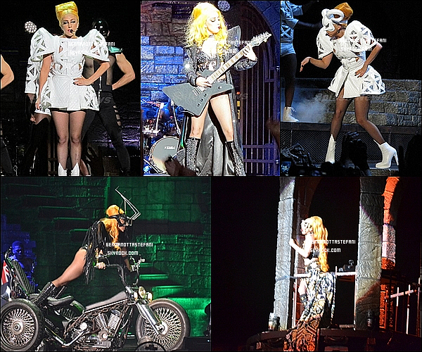 _  07/06/12 : Lady Gaga a donner un concert à Auckland durant le Born This Way Ball. _