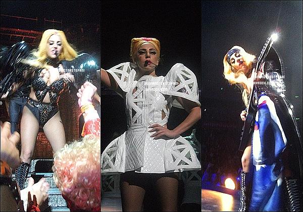 _  21/06/12 : Lady Gaga a donner un deuxième concert du Born This Way Ball à Sydney. 23/06/12 : Lady Gaga a donner son troisième concert à Sydney toujours en Australie. _