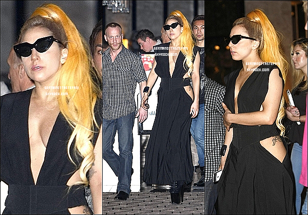 -[/align=center] 06/07/12 : Mother Monster à été aperçue avec son équipe allant - sortant du restaurant Nobu à Perth.  -[/align=center]