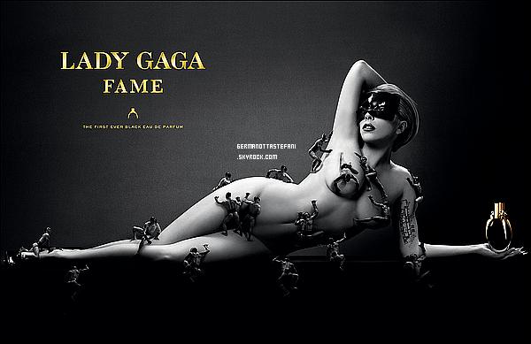 _  Découvrez l'affiche promotionnelle du parfum de Lady Gaga « Fame » par Steven Klein _