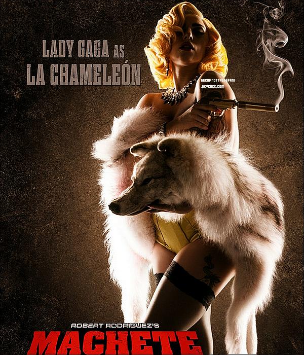 -[/align=center] 25/07/12 : Lady Gaga est de retour à Los Angeles et elle s'est rendue dans un studio. Voici l'affiche promotionnelle pour le film « Machete Kills » où notre Lady Gaga fera partie (prévu pour 2013).   -[/align=center]