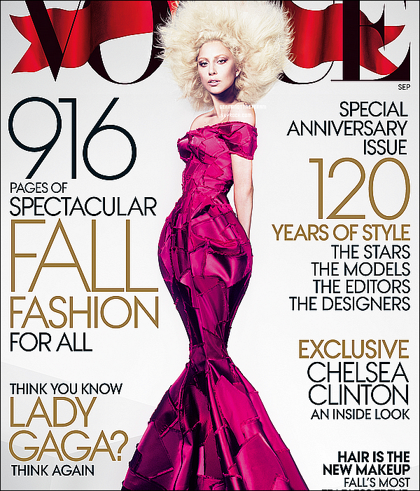 _  Lady Gaga fera la couverture du célèbre magazine « Vogue US » édition de septembre.  _