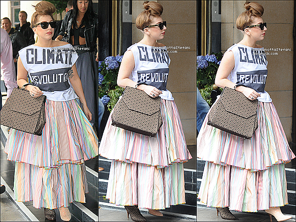 -[/align=center] 17/09/12 :  Lady Gaga à été aperçue regagnant son hôtel  après avoir rencontrer ses fans dans Londres.   -[/align=center]