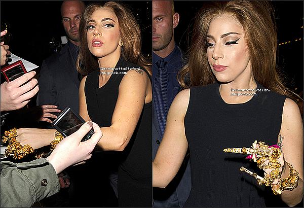 -[/align=center] 07/10/12 :  Lady Gaga faisait encore une fois  la promotion de son parfum FAME cette fois ci à Londres.  -[/align=center]