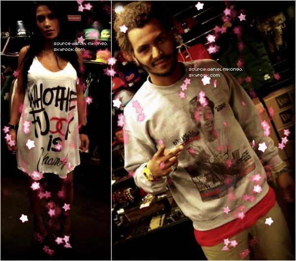 ♦ www.Source-Daniel-Mkongo.skyrock.com ; Daniel & Ayem dans un magasin de vêtements à Paris le 04/10