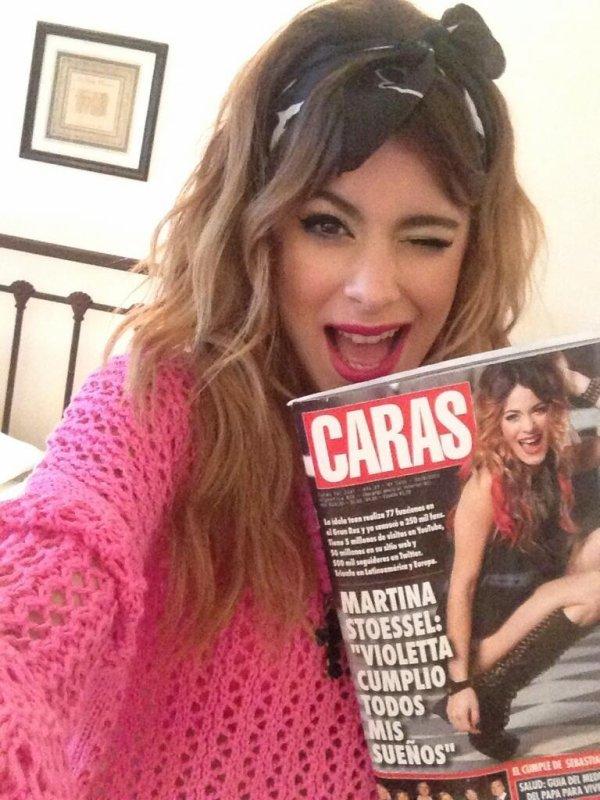 Tini avec le magazine Caras !