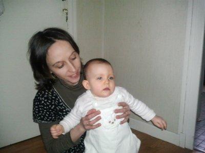 Me voila avec ma fille de 8 mois.
