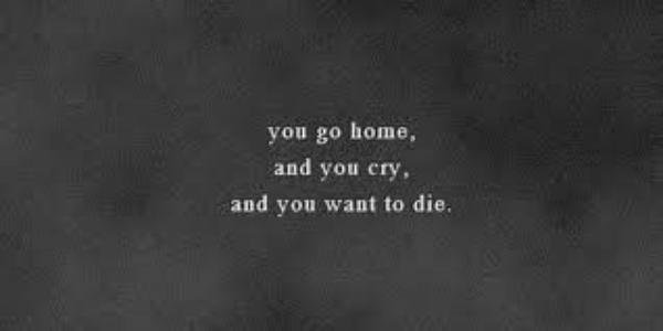 And you cry...
