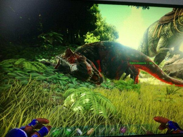 J'ai tué l'alpha rex!