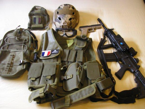 mon équipement d'airsoft
