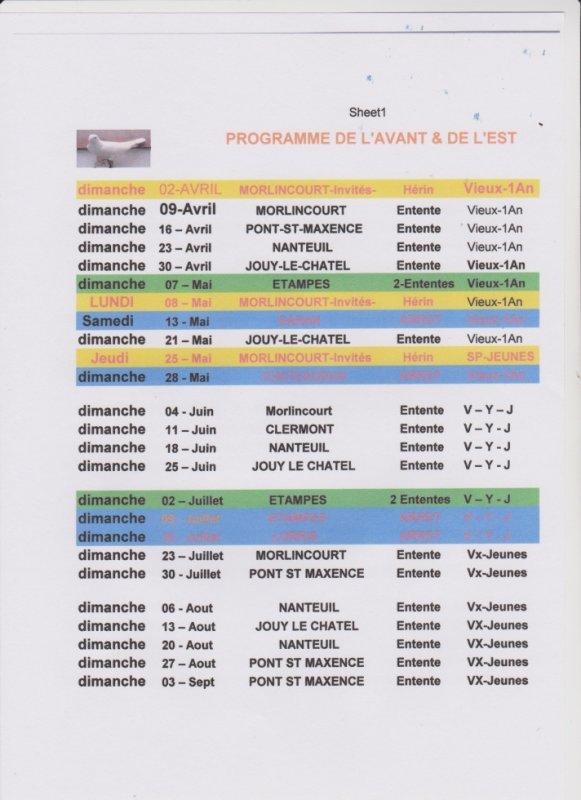 Programme 2017 de l'Avant