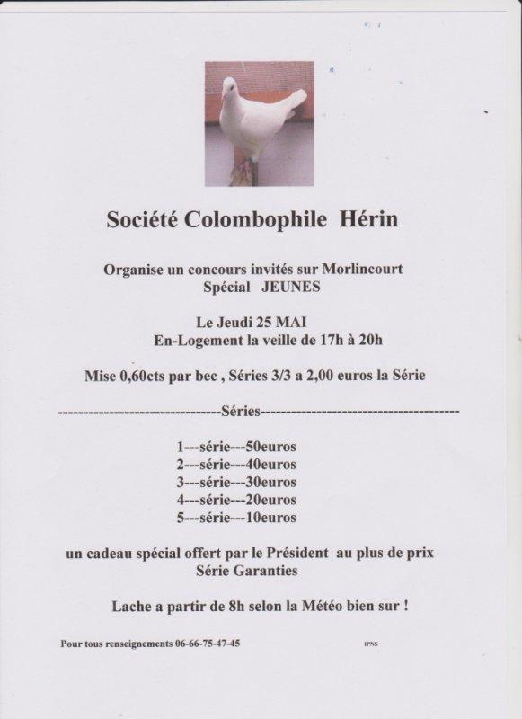 Invités Hérin / Morlincourt le 25 Mai