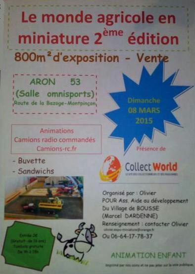 Exposition ce 8 mars