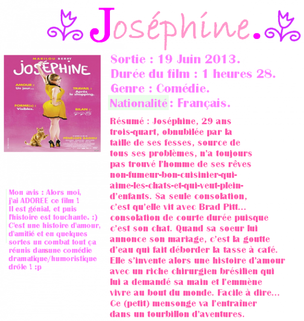 Cinéma : Joséphine (Pas l'ange gardien).