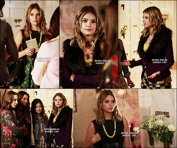 *    Découvrez les stills de l'épisode 14x04 « Who's in the Box? » de   Pretty Little Liars.  *