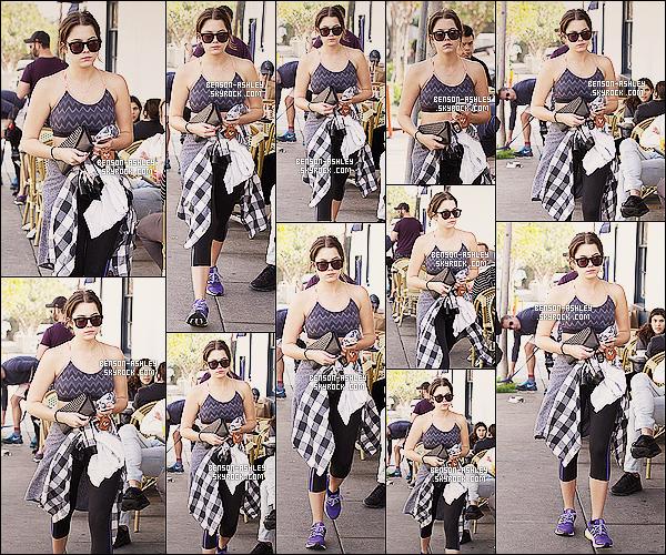 * 04/01/14 : Ashley  a été de nouveau aperçue  a la sortie d'un de ses cours de   GYM habituelle  a Los Angeles.   Ashley n'a pas fait d'effort vestimentaire enfin comme a son habitude lorsqu'elle va faire son sport mais c'est devenue une habitude ! *