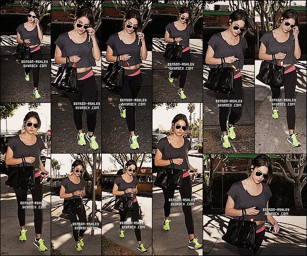 * 22/01/14 : Ashley  a été aperçu  a la sortie de son cours habituel de     GYM    toujours situer dans   Los Angeles.  Ashley semble totalement fatigué après cette séance de sport en ce qui concerne sa tenue sa reste une tenue de sport donc voila    ! *