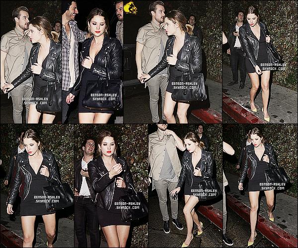 * 23/01/14 : Ashley  a été aperçu  quittant une nouvelle fois le    Chateau Marmont     dans  West Hollywood.  Après les festivité, Ashley a été vue quitter l'un de ses endroit ou elle passe le plus souvent donc rien a redire de plus sur sa tenue    ! *