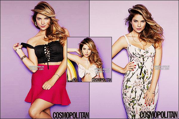 *    Ashley fait la couverture du magazine  « Cosmopolitan » et a réalisée un photoshoot.  *