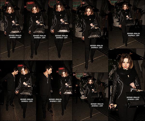 * 28/01/14 : Ashley  a été aperçu avec son boyfriend Ryan sortant du  Chateau Marmont dans     West Hollywood.  Ashley retrouve ses tenues noires auquel on est habitué depuis déja un long moment mais elle est quand même assez jolie, je trouve    ! *