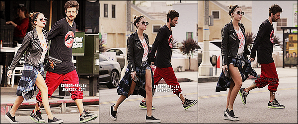 * 04/02/14 : Ashley  a été vu en compagnie de Ryan Good se rendre au    Toast Cafe  en pleins    West Hollywood.  Ashley a  retrouvé son short ce qui lui va plutot bien mais je ne suis toujours pas fan de la veste autour de la taille mais bon elle est jolie ! *