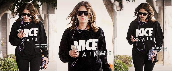 * 06/02/14 : Ashley a été aperçu de nouveau a la sortie de son cours de    GYM  dans les rues de    West Hollywood.  Un tenue noire pour faire du sport sa ne m'étonne pas  d'Ashley mais bon c'est  pour faire du sport donc sa se comprend parfaitement ! *