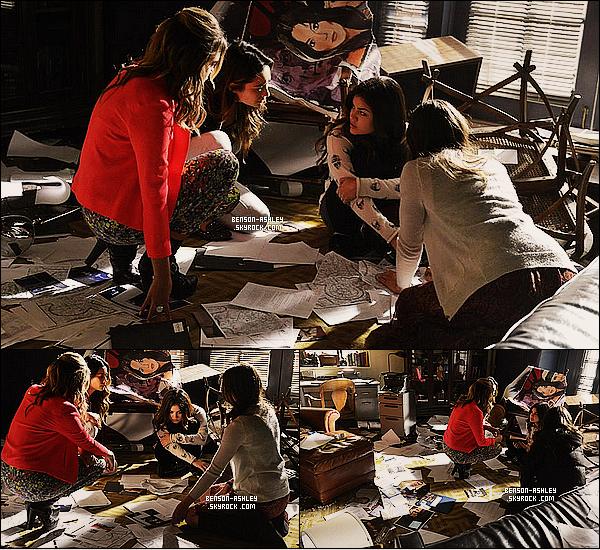 *    Découvrez les stills de l'épisode 21x04 « She's come undone » de   Pretty Little Liars.  *